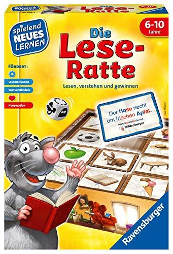 Ravensburger 24956 - Die Lese-Ratte - Spielen und Lernen für Kinder, Lernspiel für Kinder ab 6-10 Jahren, Spielend Neues Lernen für 1-4 Spieler