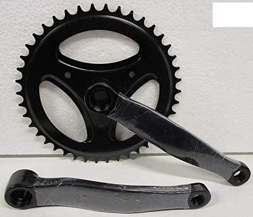Guarnitura + Braccio Pedivella Bici Olanda - City Bike 42 X 170 Acciaio Nero
