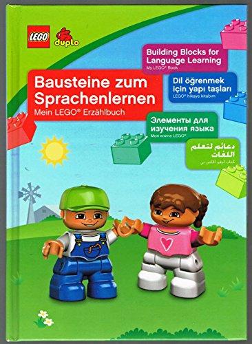 Bausteine zum Sprachenlernen. Mein Lego Erzählbuch. Lego duplo Bilderbuch mit Text, in 5 Sprachen