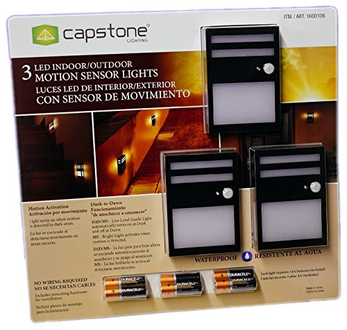 LED Indoor/Outdoor Motion Sensor Lights (Pack of 3)