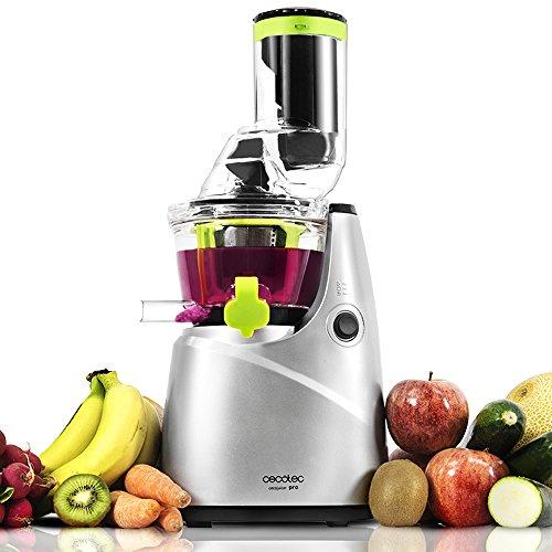 Cecotec Licuadora de Prensado en Frío Cecojuicer Pro. Para Frutas y Verduras, Extractor de Jugo con Canal XL para Fruta Entera, Sistema Slow Juicer, 250W