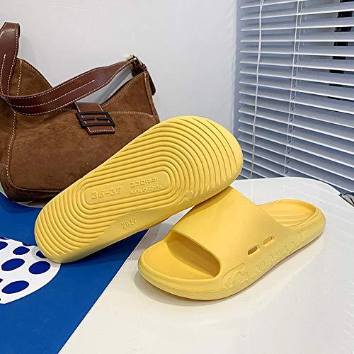 TDYSDYN Sandalias de Zapatillas de Masaje,Sandalias de Suela Blanda para el hogar, Pantuflas de EVA de baño de Suela Gruesa-Amarillo_40-41
