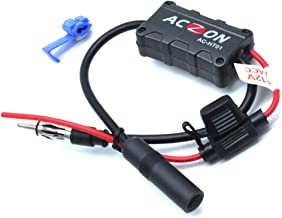 AUTUT Vehicles Car FM Radio Antenna Booster Signal Amplifier for AM FM Radio Stations