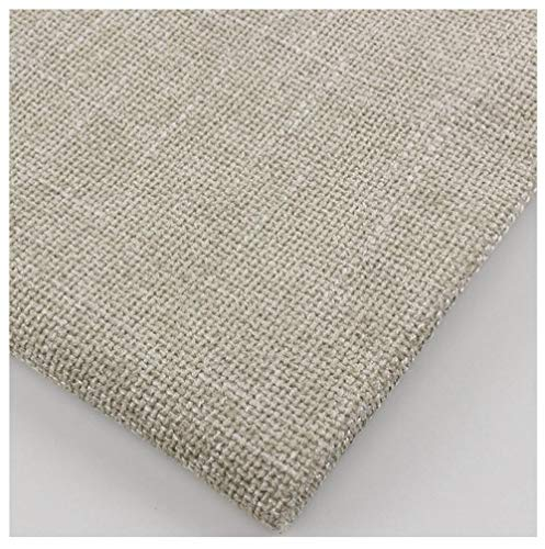 Tela gruesa de lino tipo algodón para sofá/funda de sofá de lino flameado de color sólido 1M-4# arroz integral