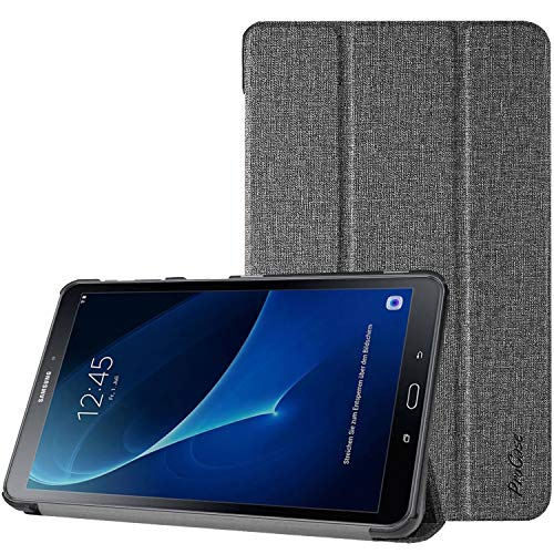 Samsung Galaxy Tab A 10.1 Hoesje, ProCase Slim Smart Cover Stand Folio Hoesje voor Galaxy Tab A 10,1 inch tablet SM-T580 T585 2016 Galaxy Tab A 10.1 (SM-T580) lichtgrijs