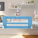 Leogreen - Barrière de Sécurité pour Lit de Bébé, Barrière de Sécurité Pliable, 1,02 mètre(s), Bleu, Matériau: Tissu en nylon