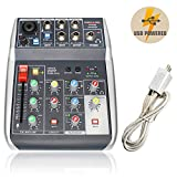 Best Usb Mixers - Audio USB Mixer with Effects, 4-Channel, 3-Band EQ Review