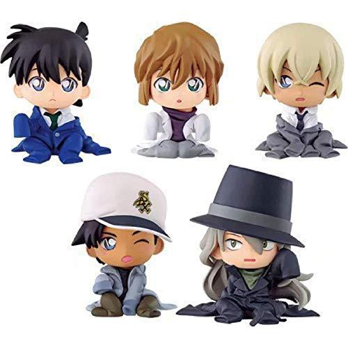 Anime Figurendetective Conan Fall Geschlossen Gin Furuya Rei Haibara Ai Actionfigur Spielzeug Puppensammlung 5 Stück/Set 5 cm