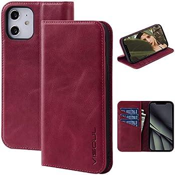 Visoul Leather Magnetic Portfolio Flip Case for iPhone 12 Mini 5.4