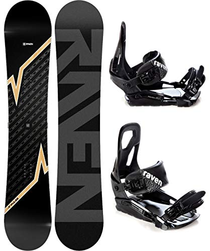 RAVEN Snowboard Set: Snowboard Pulse 2020 + Bindung s200 (170cm Wide + s200 Black M/L)