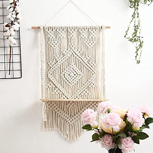 WANBAO Beautiful Pendant Efemeral Mano Tejida Pared tapicería Tapones Bohemia Tassel Planta Stand decoración del hogar loikktg (Color b) (Color : C)