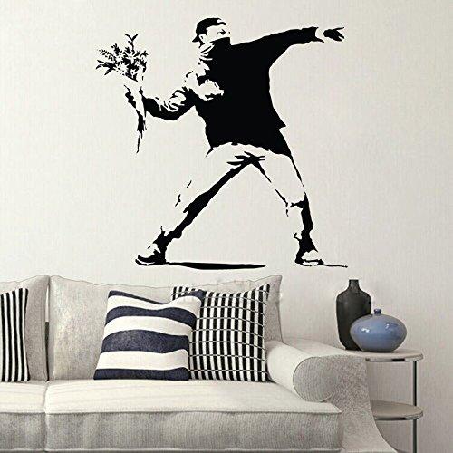 80x80 cm lanceur Graffiti Vinyle Wall Sticker Stickers Chambres Home Decor art affiche Home Supplies Unique Salon Décoratif