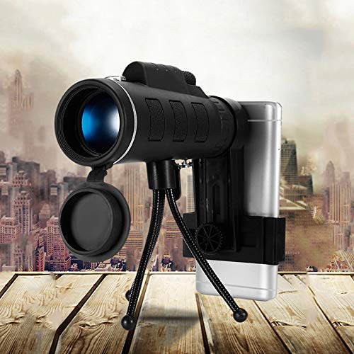 Monokular 40 x 60 HD, telescopische smartphone, telescoop, Shimmer Night Vision voor wandelingen in de vrije natuur.