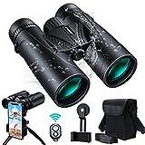 UNEGROUP Binoculars for Adults, 10x42 HD Low Light Vision Compact Binocular, Waterproof Lightweight Binocular Prism FMC BAK4 for Outdoor Bird Watching Sports Games with Smartphone Adapter Tripod