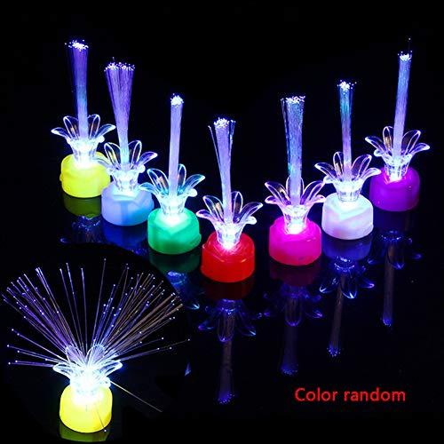 YCEOT vezeloptische kunststof draagbare flits willekeurige kleur party decor RFID blokkering romantische UV-pruimenbloesem