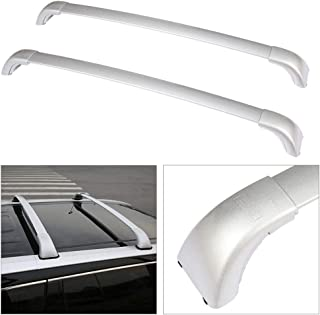 cciyu Universal Aluminum Roof Rack Cross Bar Car Top Luggage Carrier Rails Fit for 2014-2019 Toyota Highlander Sport Utility 4-Door