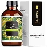SALKING Aceite Esencial de Ylang Ylang 120ml,100% Puro Aceites Esenciales para Humidificador,Aceites Esenciales Naturales Aceite Perfumado de Ylang Ylang, Regalos Originales para Mujer