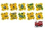 Jamara- Puzle Tren Dynamic Zoo, Multicolor (460303)