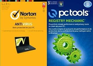 Norton Antivirus 2013 - 3 Pcs 1 Year with Pc Tools Registry Mechanic