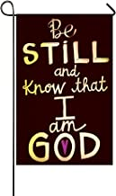 Small Mim Be Still And Know That I Am God Garden Flag Holiday Decoration Double Sided Flag 12.5