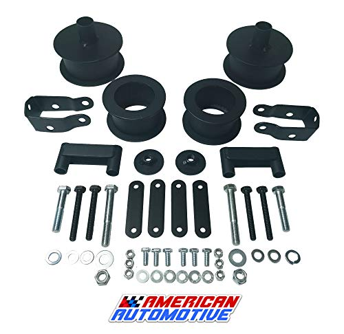 """American Automotive Wrangler JK Full Lift Kit 3"""" Front + 3"""" Rear Steel Coil Spacers + Shock Extenders Suspension Leveling Kit 2WD 4WD"""