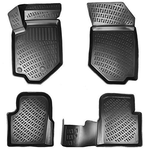 Elmasline Design 3D Gummimatten Set für Peugeot 2008 I 2013-2019 | Extra hoher 5cm Rand