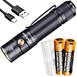 Fenix E35 v3.0 3000 Lumen High Performance EDC Flashlight with 2X 5000mAh USB-C Rechargeable Battery and LumenTac Battery Case