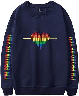 LGBT I'm Proud of You Heren Oversized Sweatshirt Dames Grote Maten Herfst Winter Crewneck Loose Fit Casual Sport Pullover ...