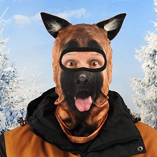 Beardo ® Original pasamontañas HD | Máscara de esquí, protección contra el frío, protección facial, pasamontañas (pastor alemán, pastor alemán de pastores)