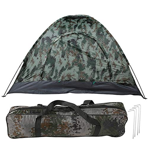 Alomejor1 Familie Camping Tent 3-4 Persoon Backpacking Tent Draagbare Dome Quick Up Tent voor Outdoor Camping Shelter