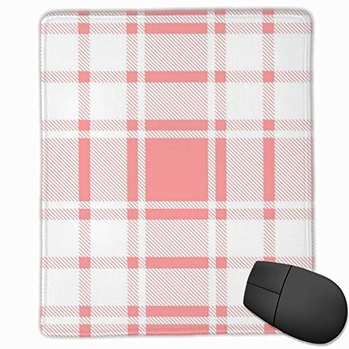 YGVDSE Rubber Mousepad Plaid Tartan Check Pattern 18 X 22 cm Gaming Mouse Pad, Mouse Mat Non Slip Rubber Base Mousepad