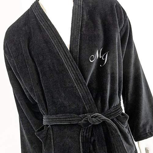 Albornoz para hombre personalizados, kimono con monograma, de color negro, tamaños M,...