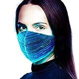 lejia maschera led 7 colori, 12 modalità di lampeggio usb di ricarica maschera progettista, maschera fresca, maschera di carnevale, mascherina di modo, mascherina del partito, mascherina discoteca,3d