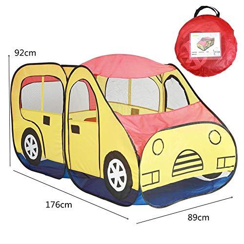 YXYOL Jungen-Spielzeug-Spiel-Zelt/Spielhaus, Kinder Pop Up-Spiel-Zelt ausgelegt, wie EIN Auto Garage mit einem einzigartigen Printed Play-Floor, Kinder-Spiel-Zelt