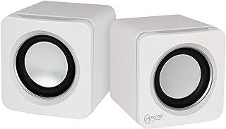 ARCTIC S111 - Bocinas portátiles con conexión USB, Mini bocinas Sonido convincente, para PC o portátil, hasta 12 Horas de batería, Bajos potentes y diseño Compacto - Blanco