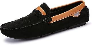 [OceanMap] ドライビングシューズ メンズ スエード ローファー スリッポン ブラック 黒 カジュアル モカシン 防滑 軽量 おしゃれ 通勤 歩きやすい ビジネスシューズ 紳士靴 ウオーキング ブラック 黒 グレー 灰
