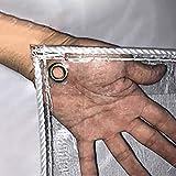Panno ombreggiante Telo in PVC Trasparente Impermeabile Antipioggia in PVC, Addensare Coperture in Plastica Trasparente per Tegole in Serra con Occhielli, 600 G/M² (Size : 1.5×1.7m)
