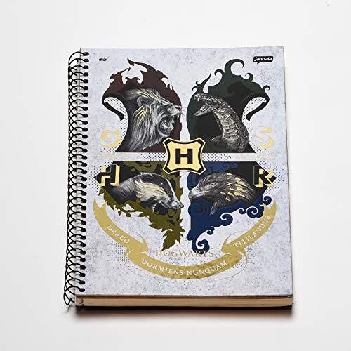 Caderno Espiral Capa Dura Universitário 1 Matéria Harry Potter Dormiens FSC 96 Folhas, Jandaia