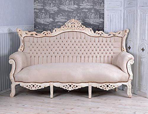 Französisches Salon Sofa Barock Sitzbank Liege Prunksofa Shabby Chic Palazzo Exclusive