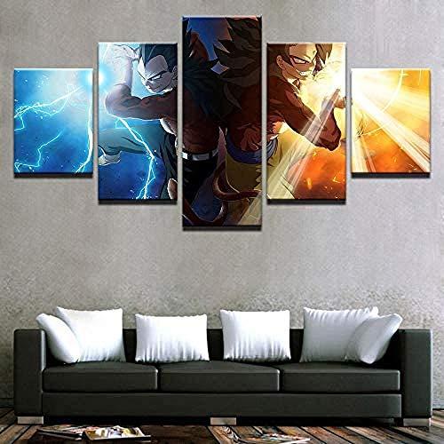 SSOOB Home Art marco de madera lienzo pared arte impresiones mural Personaje de anime 50x25 CM de lienzo de pared Cuadro de arte Decoración del hogar Pintura de impresión HD moderna Cartel modular Pin