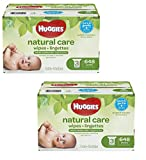 Huggies Natural Care Baby Wipes, Sensitive, Unscented, 3 Refill Packs, 648 Count Total- 2 Pack