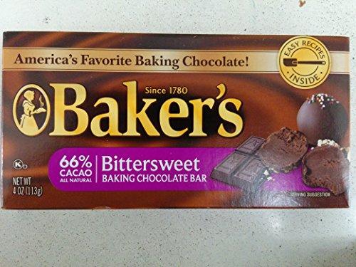 Baker's Bittersweet Baking Chocolate Bar, 4 Oz (6-Pack)
