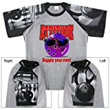 Bowling Attitude T-Shirt with Bowling Sleeve Design (XXX-Large, Gray/Black)