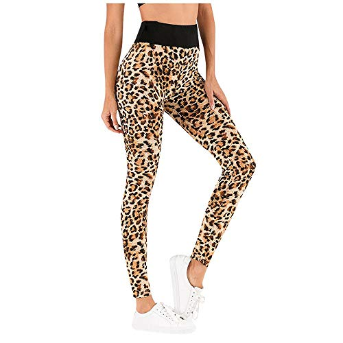 VJGOAL Pantalones de Yoga para Mujer Leggings de Fitness de Estampado de Leopardo de Moda Casual de Cintura Alta Medias elásticas Sexy Gimnasio Corriendo Pantalones Deportivos