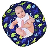 Dinosaur Lounger Cover, Lounger Cover Blue, Lounger Cover Boy, Breathable & Reusable Lounger Removable Slipcover for Newborn, Snugly Fit Baby Infant Lounger