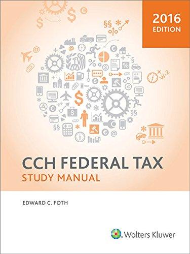 Federal Tax Study Manual (2016)