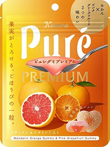 カンロ ピュレグミプレミアムみかん&ピンクグレープフルーツ 63g ×6袋