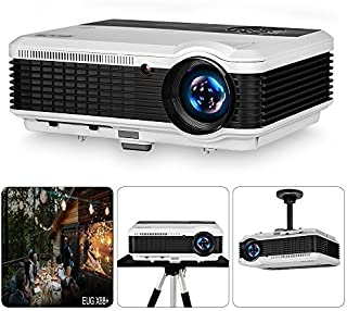 EUG 2018 LCD HD Movie Projector 1080P 3900lumens Multimedia HDMI Home Cinema Projectors for Gaming Outdoor Entertainment B...