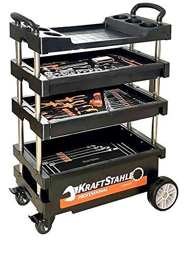 Werkzeugwagen/Montagewagen, klappbar, absenkbar und verschließbar