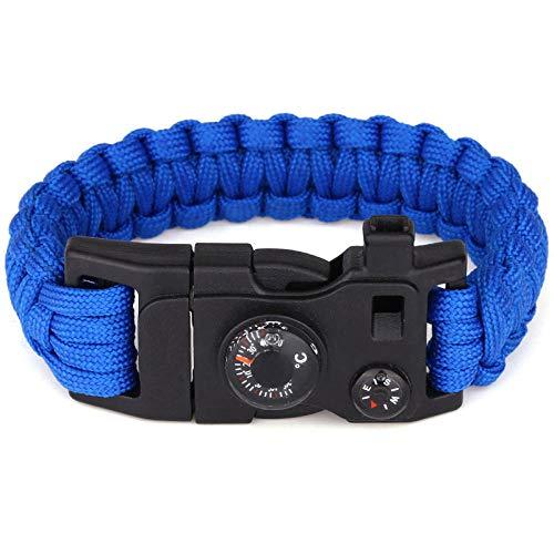 DLSM Hand-woven Seven Core Umbrella Cord Watch Bracelet EDC Tool Clasp Bracelet Camping Bracelet Bracelet-sapphire